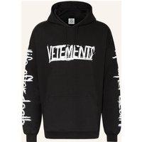 Vetements Oversized Hoodie schwarz 1
