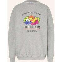 Vetements Oversized Sweatshirt grau