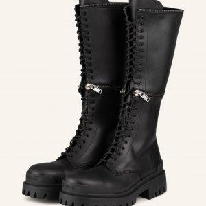 Balenciaga Biker Boots Master Mit Abnehmbarem Schaft schwarz