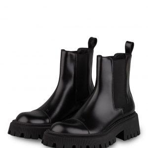 Balenciaga Plateau Boots Tractor schwarz